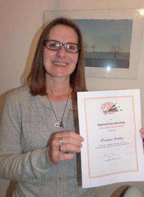 suzanne bradley receiving her award