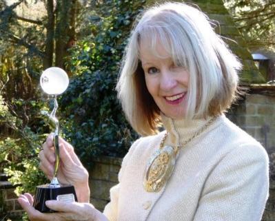 Pollyanna with her Award