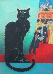 Le Chat de la Moulin Rouge by Toni Goffe