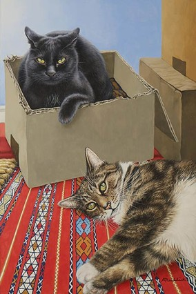 Portrait of Mark & Paul's cats
