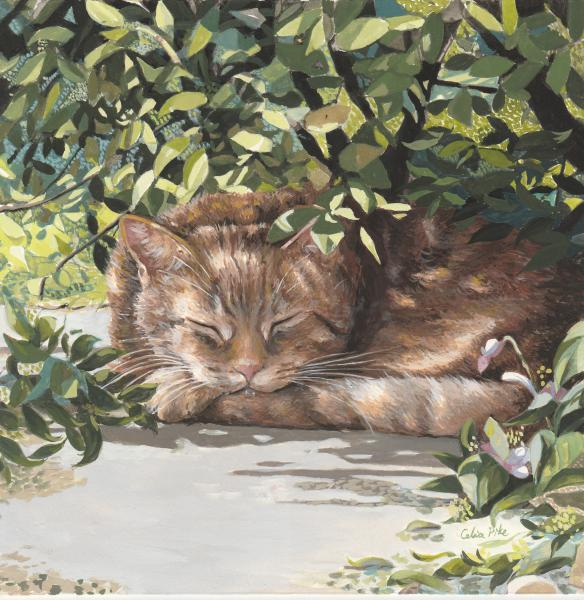 woody_in_the_garden_painting_