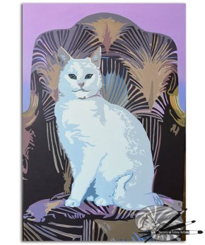 Bastet Still Reigns by Patricia Mooney-acrylic gouache on canvas-£350