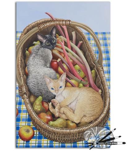 Astrid Ruddick- Devon Harvest Helpers-Acrylic on paper-699 (002)
