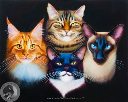 bohemian catsody painting by D Laurent