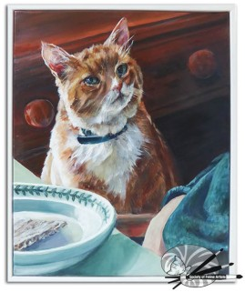 Christine Lester - Mr & Mrs Clark's Cat-framed-495