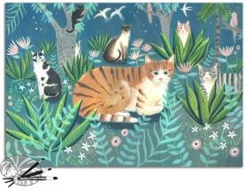 M Stubberfield-night garden-acrylic-on-paper-350