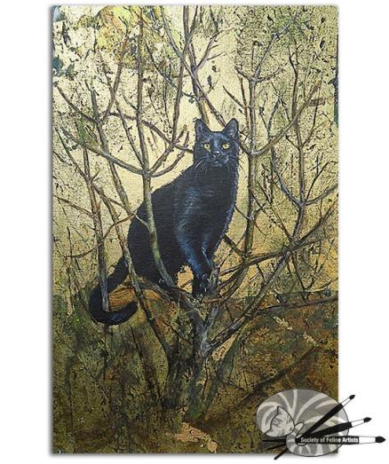 Madeline Downham-Tibbs's Tree top-oil and leaf on board-950 (1)