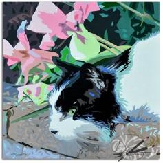The Garden Lookout by Patricia Mooney-acrylic gouache on canvas-£270