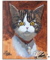 Toni Goffe-Larry-acrylic on board-150